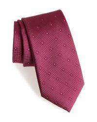 Calibrate | Purple Oxford Geometric Silk Tie for Men | Lyst