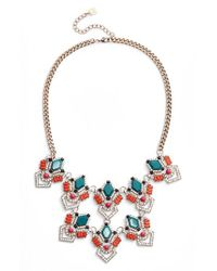 Adia Kibur - Blue Stone & Crystal Statement Necklace - Lyst