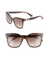 Kate Spade - Brown Kiya 53mm Sunglasses - Dark Havana - Lyst