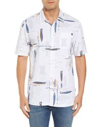 Jack O'neill - White Hook And Line Print Camp Shirt for Men - Lyst