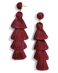 BaubleBar - Red Gabriela Tassel Fringe Earrings - Lyst
