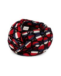 Gucci - Red Baia Gg Stripe Turban - Lyst