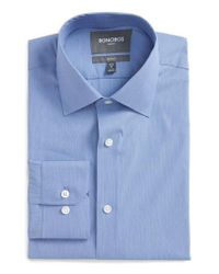 Bonobos | Blue Jetsetter Slim Fit Solid Dress Shirt for Men | Lyst