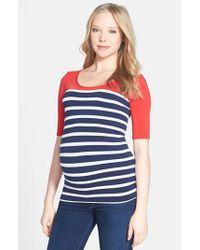 Tees by Tina | Multicolor 'st. Barts' Ballet Sleeve Maternity Top | Lyst