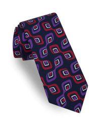 Ted Baker - Purple Medallion Silk Tie for Men - Lyst