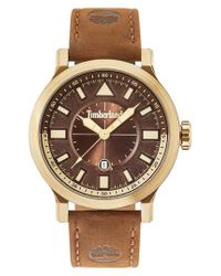 Timberland   Brown Driscoll Leather Strap Watch for Men   Lyst