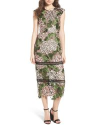 Bronx and Banco - Multicolor Cherry Hydrangea Lace Dress - Lyst