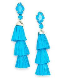 Kendra Scott - Blue Denise 3-in-1 Tassel Earrings - Lyst