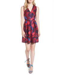 Draper James | Red Autumn Bloom Love Circle Dress | Lyst