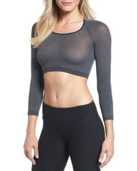 Spanx - Gray Spanx Arm Tights(tm) Opaque Layering Top - Lyst