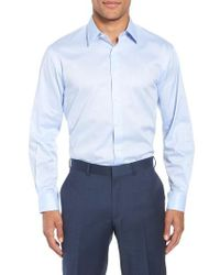 John W. Nordstrom - Blue John W. Nordstrom Traditional Fit Solid Dress Shirt for Men - Lyst