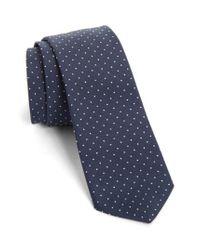 Paul Smith | Blue Dot Silk Skinny Tie for Men | Lyst