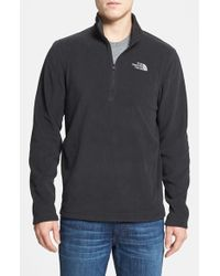 The North Face | Black 'tka 100 Glacier' Quarter Zip Fleece Pullover for Men | Lyst