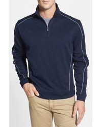 Cutter & Buck | Blue Drytec Half Zip Pullover for Men | Lyst