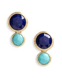 Marco Bicego Blue Jaipur Lapis & Turquoise Stud Earrings