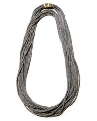Lafayette 148 New York - Multicolor Mesh Chain Multistrand Necklace - Lyst