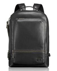 Tumi   Black 'harrison - Bates' Leather Backpack   Lyst