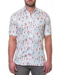 Maceoo - Blue Fresh Proposal Slim Fit Sport Shirt for Men - Lyst