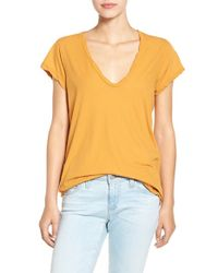 James Perse - White High Gauge Jersey Deep V Tee - Lyst