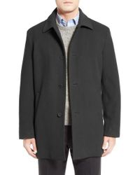 Cole Haan - Gray Italian Wool Blend Overcoat for Men - Lyst