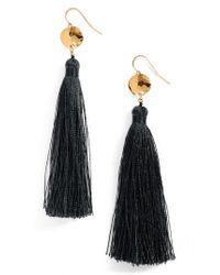 Gorjana   Blue Leucadia Tassel Drop Earrings   Lyst