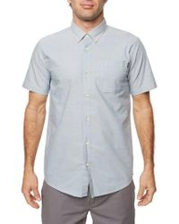 O'neill Sportswear - Blue Banks Woven Shirt for Men - Lyst