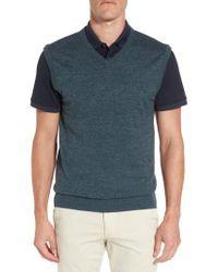 AG Jeans   Blue Valley V-neck Sweater Vest for Men   Lyst
