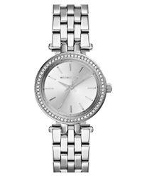 Michael Kors | Metallic 'Darci' Crystal Bezel Bracelet Watch | Lyst