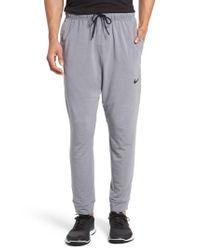 Nike - Gray Dri-fit Fleece Training Pants for Men - Lyst