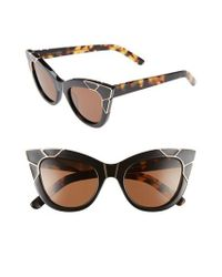 aa8670e158 Lyst - Pared Eyewear Puss   Boots 49mm Cat Eye Sunglasses in Black