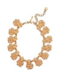 Oscar de la Renta - Metallic Collar Necklace - Lyst