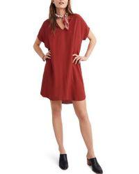 Madewell - Red Bicoastal Dress - Lyst
