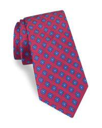 Ted Baker | Red Medallion Silk Tie for Men | Lyst
