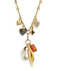 Lizzie Fortunato - Metallic Marian Amulet Pendant Necklace - Lyst