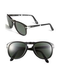 Persol - Black '714' 57mm Folding Polarized Keyhole Sunglasses for Men - Lyst