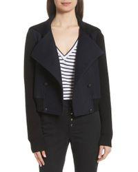 A.L.C. - Black Bryant Merino Wool Blend Jacket - Lyst