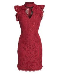 Adelyn Rae | Red Delilah Lace Sheath Dress | Lyst