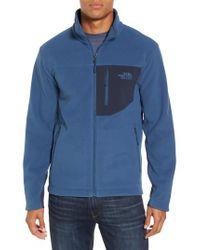 The North Face - Blue 'chimborazo' Zip Front Fleece Jacket for Men - Lyst