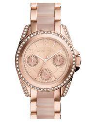 MICHAEL Michael Kors | Metallic 'mini Blair' Multifunction Bracelet Watch | Lyst