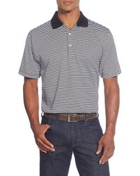 Peter Millar | Black 'classic Stripe' Egyptian Cotton Lisle Polo for Men | Lyst