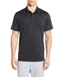 BPM Fueled by Zella - Black 'celsian' Moisture Wicking Zip Polo for Men - Lyst