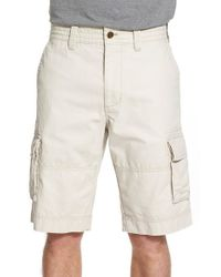 Nordstrom - Natural Herringbone Cargo Shorts for Men - Lyst