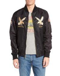 Schott Nyc - Black Uss Mississippi Bomber Jacket for Men - Lyst