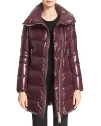 Moncler | Brown 'joinville' Water Resistant High Collar Down Puffer Coat | Lyst