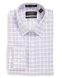 Nordstrom - Blue Smartcare Trim Fit Check Dress Shirt for Men - Lyst