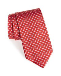 Ferragamo | Red Fish Print Silk Tie for Men | Lyst