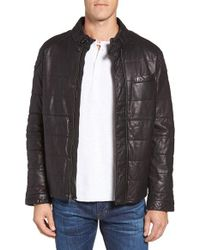 Jeremiah | Black Ace Quilted Leather Jacket for Men | Lyst