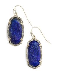 Kendra Scott | Blue Danielle Rhodium Earrings | Lyst