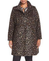 Via Spiga | Multicolor Leopard Print Stand Collar Coat | Lyst
