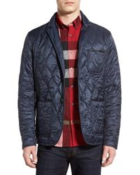 Burberry Brit | Blue 'gillington' Water Resistant Quilted Jacket for Men | Lyst